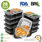 10/20X Freezer Microwavable Meal Prep Food Storage Containers Plastic Lunch Box