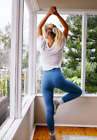 NEW Free People Movement High-Rise Full-Length Hop To It Leggings Blue M/L 88