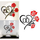 3d Wall Sticker Photo Frame Love Rose Decal Diy Home Room Art Mural Decor