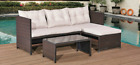 Rattan Corner Sofas Patio Garden Furniture Set Outdoor Conservatory Dining Table
