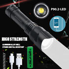 Most Bright XHP90 LED Flashlight 26650 USB Rechargeable Zoom Torch Light XHP50