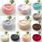 Fluffy Plush Donut Cuddler Round Dog Pet Bed Calming Marshmallow Cat Bed Nest