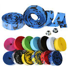 US Handlebar Tape Biker Road Bike Gym Cork Grip Wrap Ribbon Bike Tape & Bar Plug