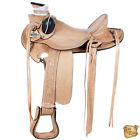 13 14 15 16 17 18 In Western Horse Wade Saddle Leather Ranch Roping Tan U-D086