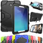 Heavy Duty Rugged Hybrid Rubber Hard Stand Case Cover For Samsung Galaxy Tab E