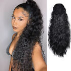 Natural Hair Ponytail Clip In As Real Curly Hair Extension Wrap Around Pony Tail