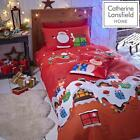 Catherine Lansfield Santa's Christmas Presents Red Duvet Covers Kids Bedding Set