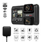 4K 2160P Car Dash Cam DVR Dual Lens WiFi GPS Sensor Camera Recorder