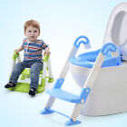 Kyпить Kids Trainer Toilet Potty Training Seat Baby Toddler Chair Padded Ladder Safety на еВаy.соm