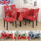 Christmas Tablecloth Dining Chair Covers Set Banquet Table Cover Seat Xmas Party