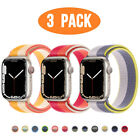 3 PACK Nylon Sport Band Strap for Apple Watch Series 6 5 4 3-1 40/44mm iWatch SE