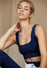 NEW Free People Movement Yoga Square Neck Good Karma in Navy XS/S-M/L 48