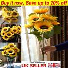 7heads Artificial Sun Flowers Fake Flower Floral Bouquet Home Garden Decor Ws