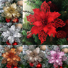 Glitter Hollow Wreath Xmas Tree Christmas Flower Plastic Home Wedding Partydecor