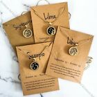 Astrology Zodiac Necklace With Card Jewellery Star Sign Constellation Horoscope