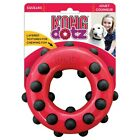 KONG Dotz Circle Dog Puppy Teething Bouncy Rubber Texture Toy Clean Teeth Gums