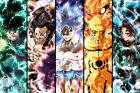 "Demon Slayer Hero Academia Naruto Large Poster 24"" x 16""  Wall Decor Fan Art"