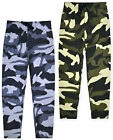 Boys Trousers Camouflage Bottoms Army Cotton Jogging Sport Pants Ages 3-13 Years