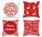 "18"" Red Christmas Pillow Covers Cushion Cover Throw Pillow Case Home Sofa Decor"