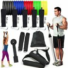 150Bs  17Pcs Resistance Band Set Therapy Home Gym Workout Elastic Band Pull Rope
