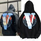 Vlone X Juice Wrld Big V Hoodie Mens Women Print Sweatshirt Hooded Pullover Coat