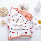 Baby Soft Warm Nap Blanket Double-sided Sleeping Quilt for Kids Boys Girls