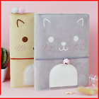 Cat Journal Notebooks Card Holder Travel Planner Girls Diary Book Pad Stationery