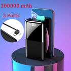 300000mAh Slim Power Bank Dual USB Portable External Battery Charger for iPhone