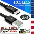 For Samsung Galaxy S20 FE S10 S9 S8 Note20 USB-C Type C Fast Charging Data Cable