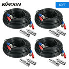 KKMOON BNC Cable 60ft Wire Cord Video Power Cable for CCTV Security Camera