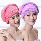 Cc_ Absorbent Quick Dry Shower Hair Cap Head Wrap Towel Hat Bathing Tools Fill