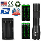 T6 LED Flashlight +18650 Battery Li-ion 3.7V Rechargeable Batteries +Charger USA