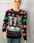 Ugly Christmas Sweater - Men's Abbey Road Elves - Light Up - Multiple Sizes