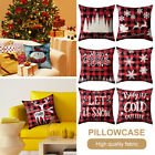 ✅buy 1,get 1 Free ✅45x45cm Christmas Xmas Cushion Cover Pillow Case Cotton Decor
