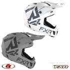 New FXR 2021 Clutch CX Snowmobile Motocross Helmet Steel/White MD LG XL 2XL
