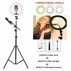 "10"" LED Ring Light with Stand Mic Holder Dimmable Lightiing Makeup Youtube Live"