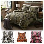 Chezmoi Collection Salem 3-Piece Printed Tree Forest Woods Camo Comforter Set