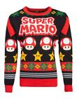 Nintendo - Super Mario Knitted Christmas Unisex Jumper Size M-L-XXL New