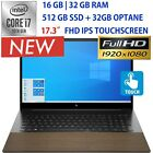 "NEW HP ENVY 17.3"" FHD Touch- CORE i7 -Customize upto 32GB RAM- 512GB SSD OPTANE"