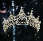 7cm High Crystal Pearl Tiara Crown Wedding Bridal Party Pageant Prom 2 Colors