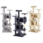 AVC Cat Tree Kitten Scratch Post Bed Activity Nest  Multi Level Tower House 1.2m