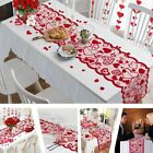 Love Heart Lace Table Runner For Home Indoor Valentine's Day Table Decorations!