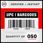 UPC EAN Barcodes Codes Numbers - GS1 - Amazon Verified - Pick Quantity 🔥