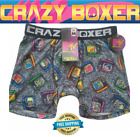 Crazy Boxers Men's Boxer Briefs MTV RETRO TVs NEW IN PACKAGE FREE SHIPPING!