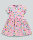NEW girls peppa pig character pink short sleeve dress age 12 months - 5 years