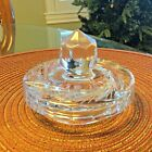 "2 - Crystal Biscuit/Cracker/Candy Jar LIDS w/Finials; 1 - 5""; 1 - 4""Diameters."