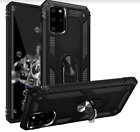Samsung Galaxy S20 Plus Case Ring-Holder Kickstand Protective Anti-Drop Black