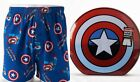 MARVEL Men's Boxer in Collectable Tin Comics/ Captain America/ Punisher, 1-Pack