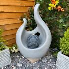 Abstract  Flame Water Feature,modern water feature,garden fountain,Solar Powered
