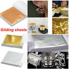 100X Copper/Silver/Gold Foil Leaf Paper Food Cake Decor Edible Gilding DIY Craft